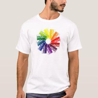 T-shirt Roue de couleur d'asplénie