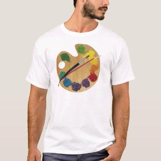 T-shirt Roue de couleur de palette du ` s d'artiste