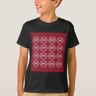 T-shirt Rouge blanc d'ethno d'éléments de conception