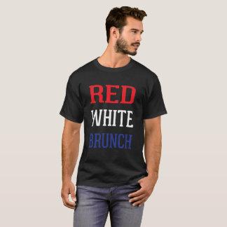 T-shirt Rouge, blanc et brunch