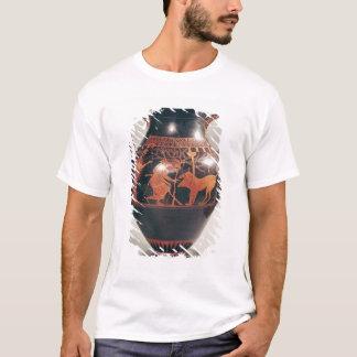 T-shirt Rouge-chiffre amphora de grenier de ventre