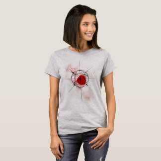 T-shirt Rouge cosmique de la géométrie