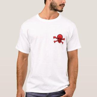 T-shirt rouge-crâne-os croisés-clipar