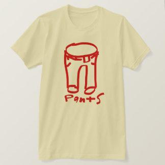 T-shirt Rouge/crème de chemise de logo de collection de