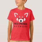 T-shirt Rouge de chemise de panda rouge d'enfants