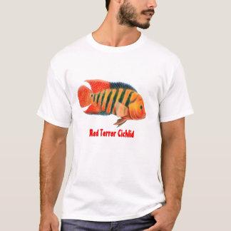 T-shirt rouge de Cichlid de Festae de terreur