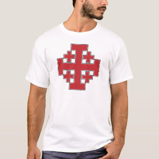 T-shirt Rouge de croix de Jérusalem