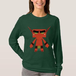T-shirt rouge de douille d'elfe mauvais long