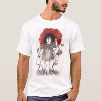 T-shirt rouge de fille de pavot