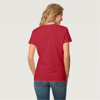 T-shirt rouge de logo de JLSJ