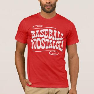 T-shirt Rouge de nostalgie de base-ball
