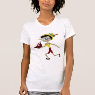T-shirt rouge de Pinocchio de pinocho de Pinoccio