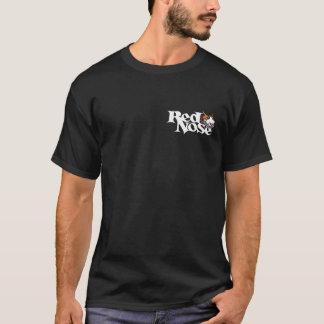 T-shirt rouge de Pitbull de jour de nez