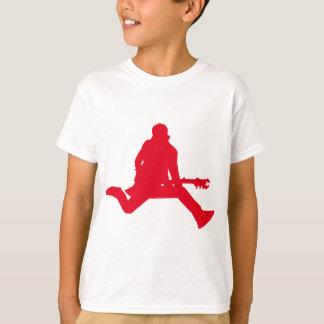 T-shirt Rouge de vedette du rock