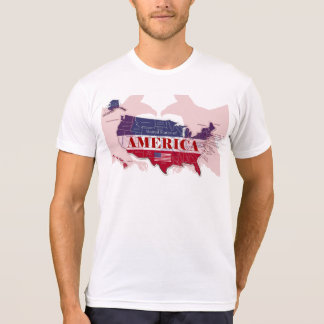 T-shirt rouge des Etats-Unis d'Amérique Eagle
