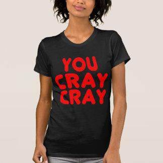 T-shirt Rouge drôle de Memes d'Internet de Cray Cray