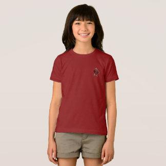 T-shirt rouge du Jersey de filles de canneberge de