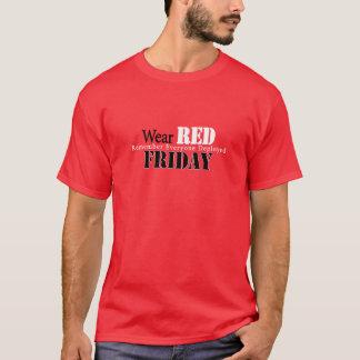 T-shirt Rouge d'usage vendredi