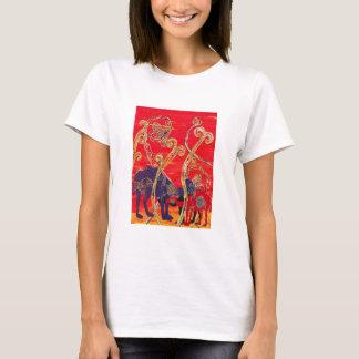 T-shirt rouge et bleu de chameaux