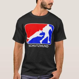 T-shirt rouge et bleu de schutzhund de logo