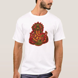 T-shirt Rouge et or Ganesh