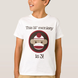 T-shirt Rouge et singe de chaussette de Brown : Troisième