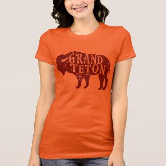 T-shirt Rouge foncé grand de Buffalo de Teton