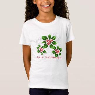 T-Shirt Rouge hawaïen de Noël de Mele Kalikimaka de houx