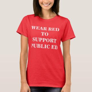 T-shirt ROUGE pour le PUBLIC ED