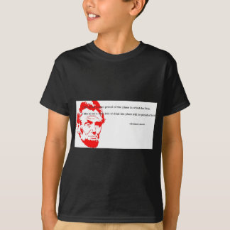 T-shirt Rouge reconnaissant de citation d'Abraham Lincoln