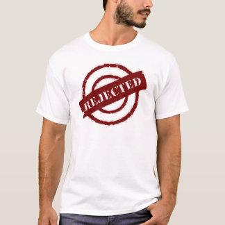 T-shirt rouge rejeté par timbre