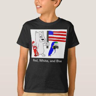 T-shirt Rouges, blancs, et bleu (enfants)