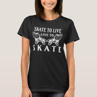 T-shirt Rouleau Derby, patin à vivre, vivant pour patiner