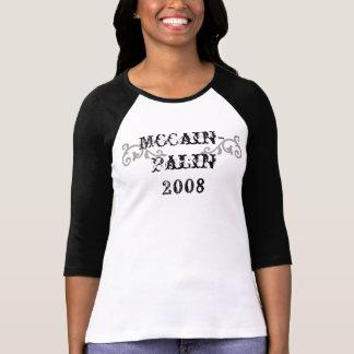 T-shirt rouleau, occidental, McCain- Palin 2008 -