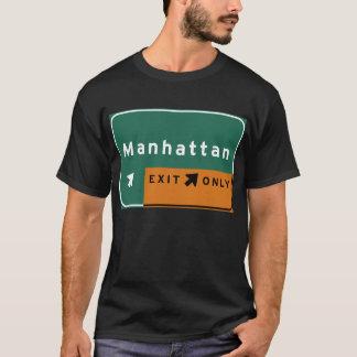 T-shirt Route d'autoroute d'autoroute nationale de sortie