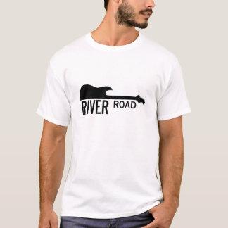 T-shirt Route de rivière - grand logo blanc