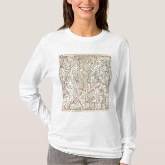 T-shirt Routes de bicyclette à New York et Connecticut