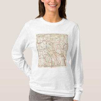 T-shirt Routes de bicyclette à New York et Connecticut 7