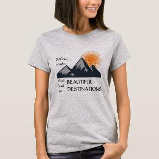 T-shirt Routes difficiles de Motivation-Pièce en t