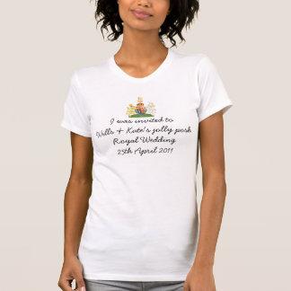T-shirt royal de souvenir de mariage d'amusement