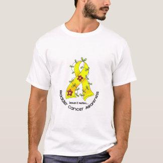 T-shirt RUBAN 1 de FLEUR de cancer de la vessie