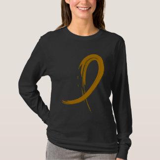 T-shirt Ruban ambre A4 de Cancer d'annexe