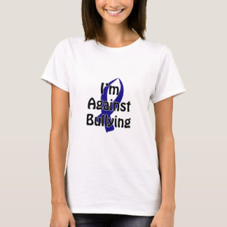 T-shirt Ruban bleu de Anti-Intimidation