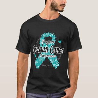 T-shirt Ruban de Cancer ovarien des papillons