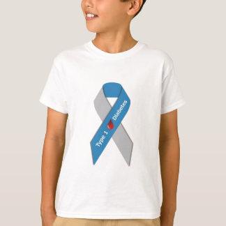 T-shirt Ruban de conscience de diabète de type 1