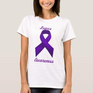 T-shirt Ruban de pourpre de conscience de lupus