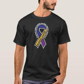 T-shirt Ruban du cancer de la vessie A305 aucune arme