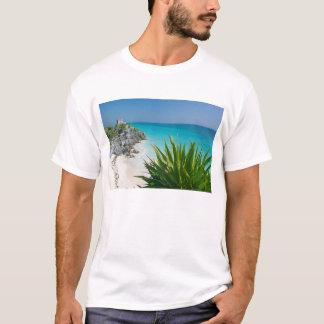 T-shirt Ruines maya à la plage dans Tulum