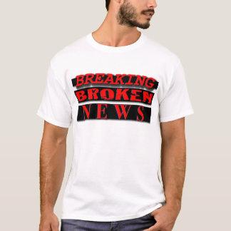 T-shirt Rupture de l'usage cassé de logo de nouvelles