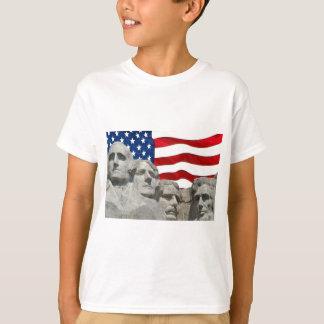 T-shirt Rushmore/drapeau